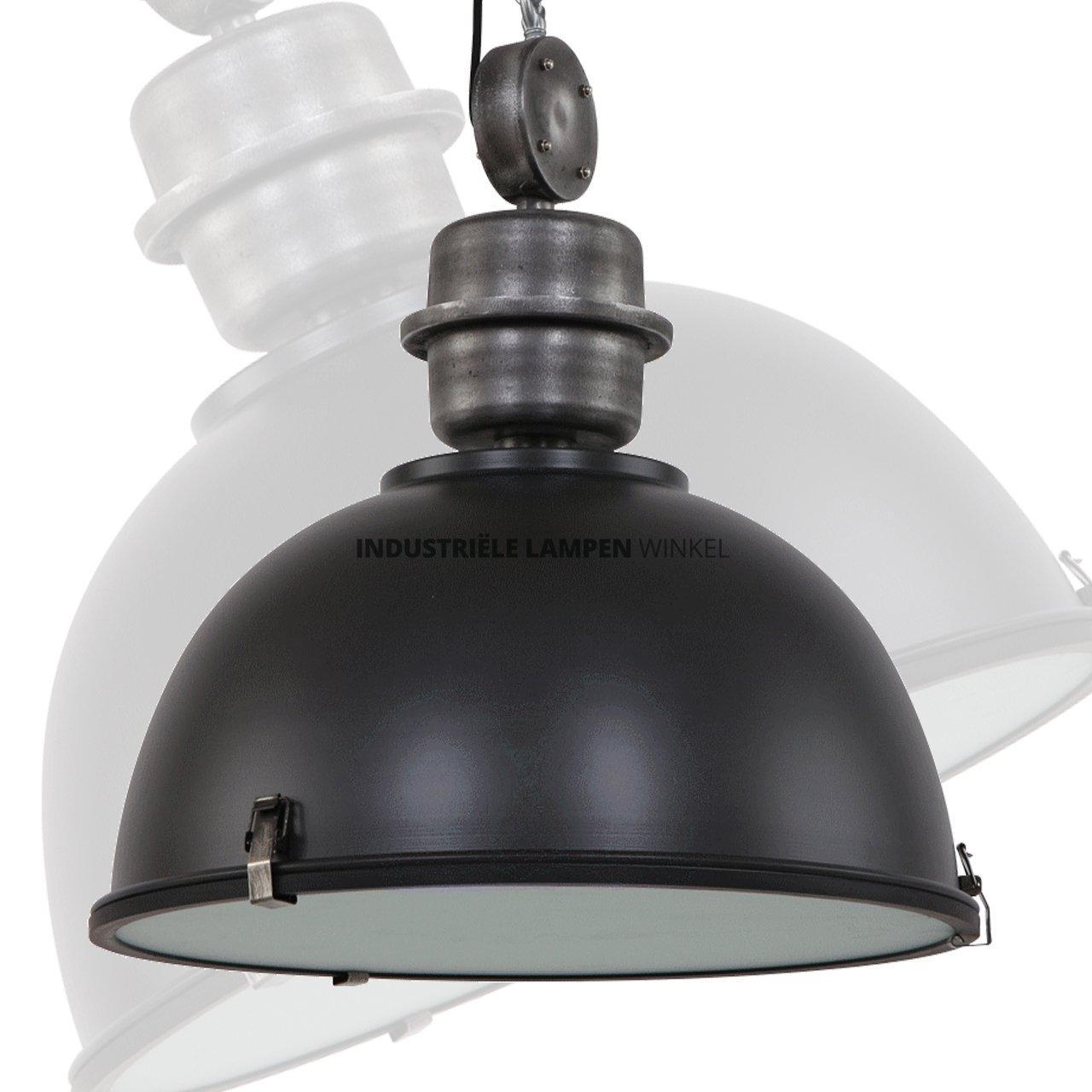 Zwarte Industriele Lamp.Home Industriele Hanglamp Hanglamp Bikkel Xxl Industrieel Mat Zwart O 52cm
