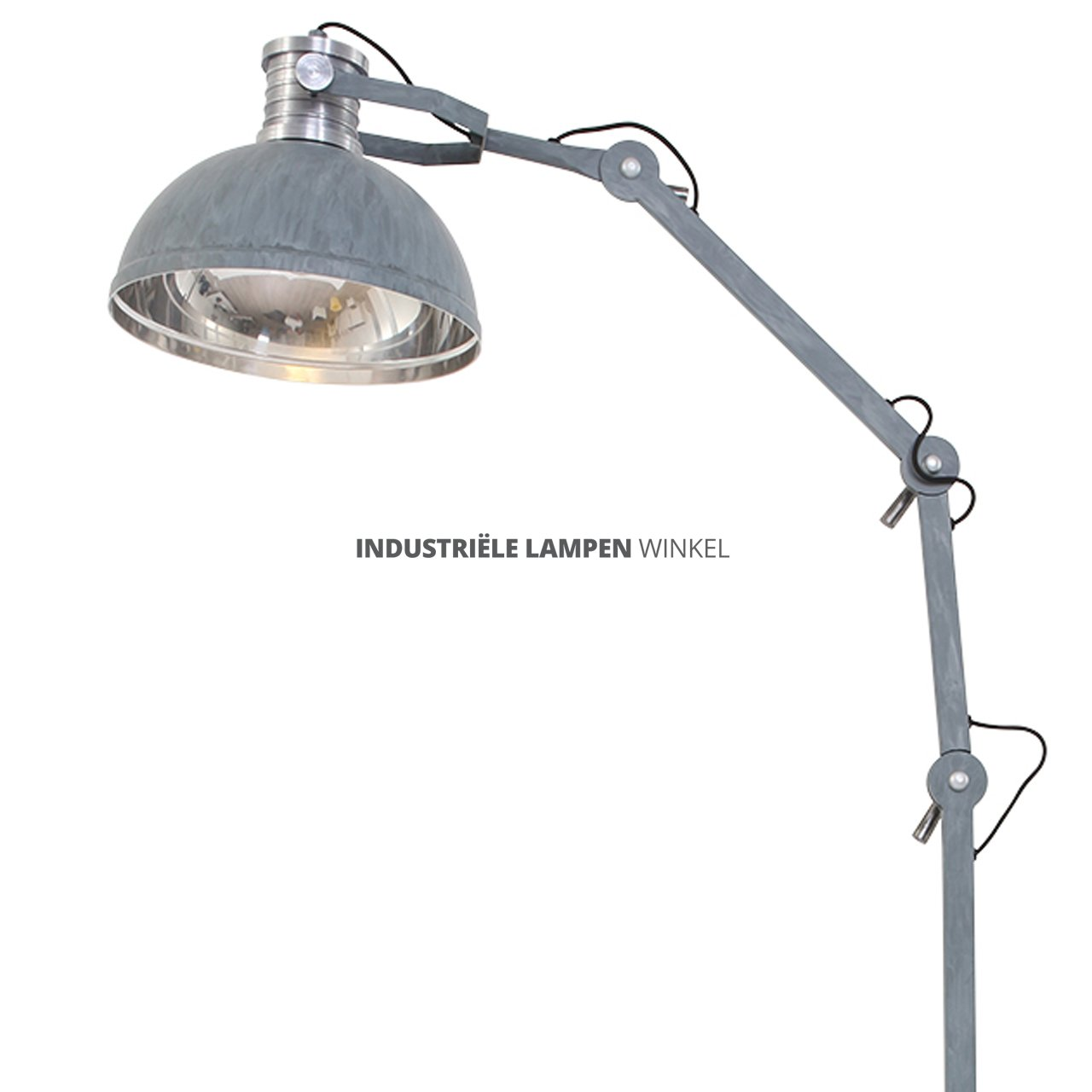 Plafondlamp industrieel latest industrile plafondlamp for Staande lamp betonlook