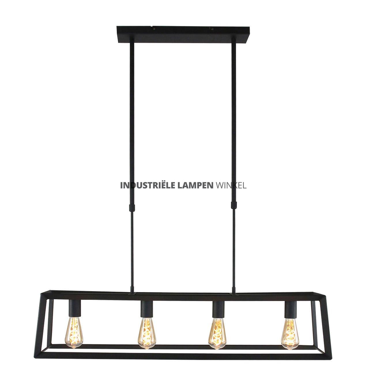 Super Hanglamp rechthoekig 4 lichtpunten HN46